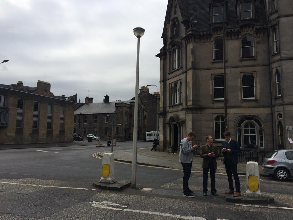 The team out in Edinburgh on our first test